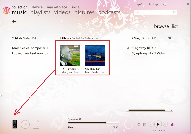 sync music on windows phone
